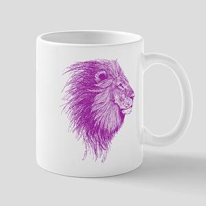 purple dot lion Mugs