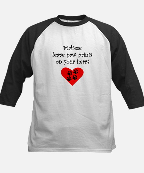 Maltese Leave Paw Prints On Your Heart Baseball Je