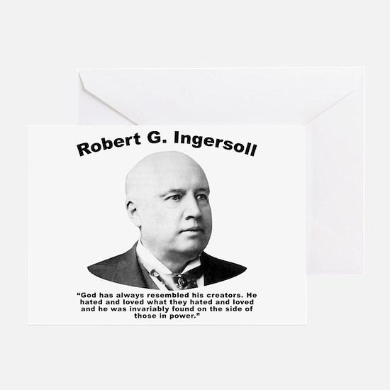 Ingersoll: God Greeting Card