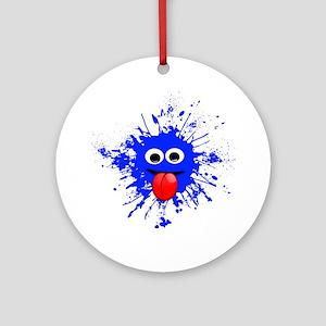 Blue Splat Dude Ornament (Round)