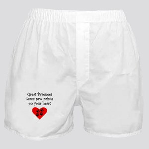 Great Pyrenees Leave Paw Prints On Your Heart Boxe