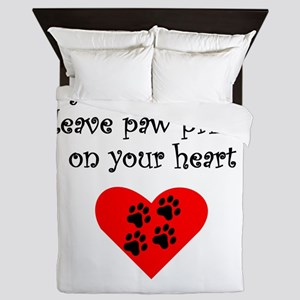 Great Pyrenees Leave Paw Prints On Your Heart Quee