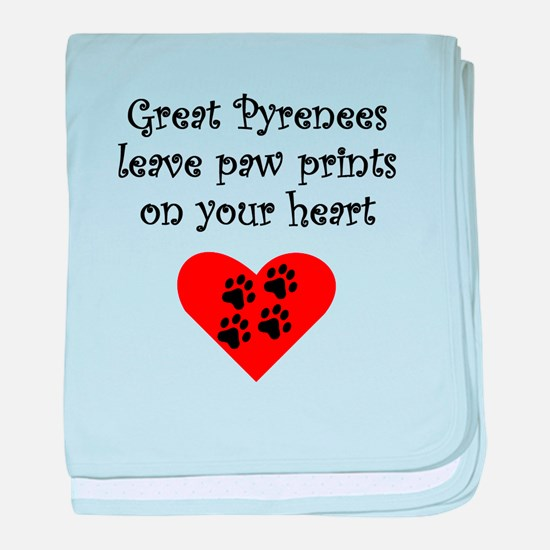 Great Pyrenees Leave Paw Prints On Your Heart baby