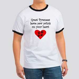 Great Pyrenees Leave Paw Prints On Your Heart T-Sh