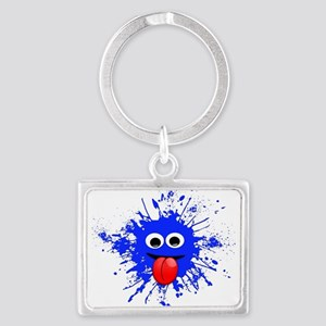 Blue Splat Dude Keychains
