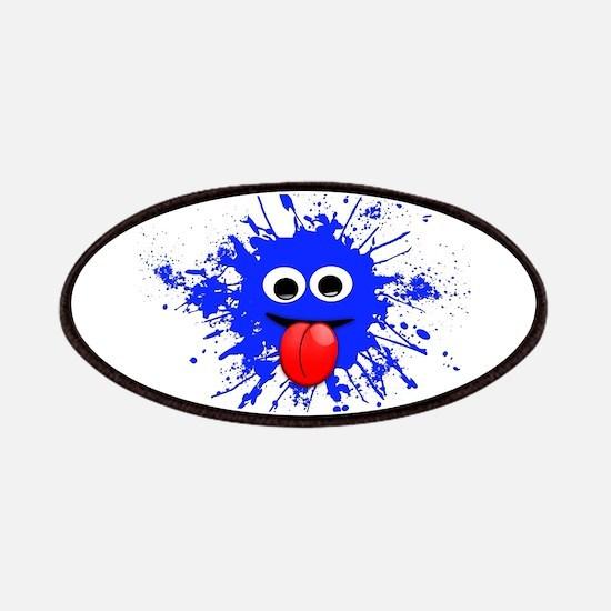 Blue Splat Dude Patches