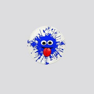Blue Splat Dude Mini Button