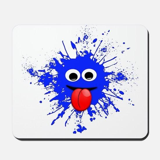 Blue Splat Dude Mousepad