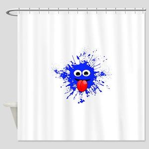 Blue Splat Dude Shower Curtain