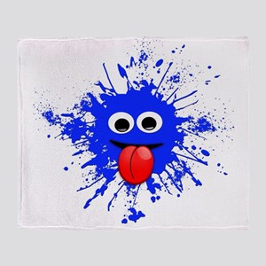 Blue Splat Dude Throw Blanket