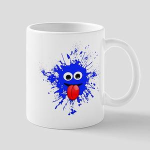 Blue Splat Dude Mugs