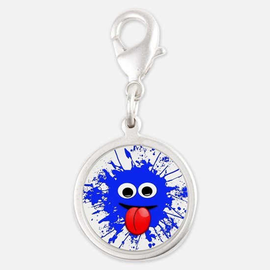 Blue Splat Dude Charms