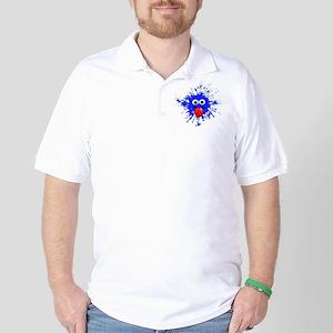 Blue Splat Dude Golf Shirt