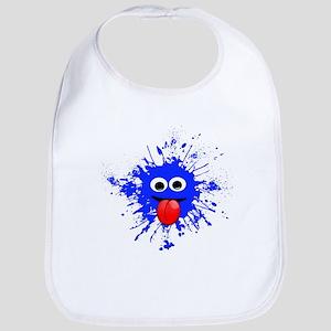 Blue Splat Dude Bib