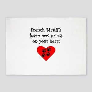 French Mastiffs Leave Paw Prints On Your Heart 5'x