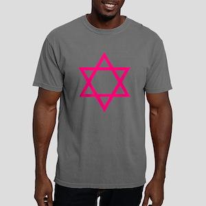Pink Star of David Mens Comfort Colors Shirt