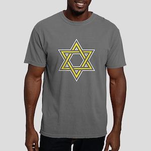 Yellow Star of David Mens Comfort Colors Shirt