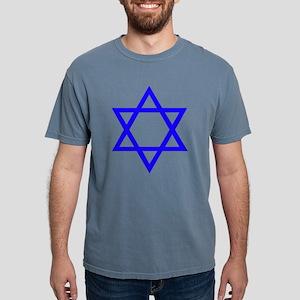 Blue Star of David Mens Comfort Colors Shirt