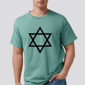 Black Star of David Mens Comfort Colors Shirt