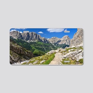 Dolomiti - footpath in Val Aluminum License Plate