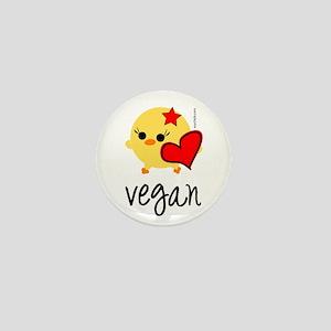 Vegan Love Mini Button