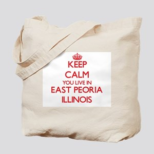 Keep calm you live in East Peoria Illinoi Tote Bag