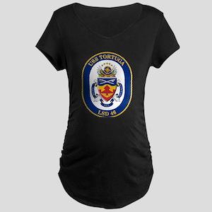 USS Tortuga LSD-46 Maternity Dark T-Shirt