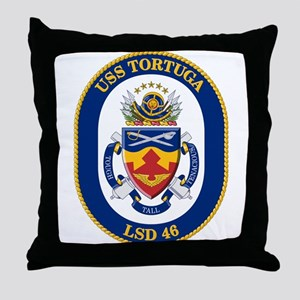 USS Tortuga LSD-46 Throw Pillow