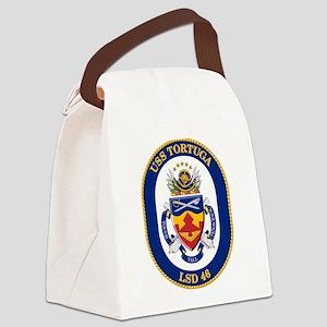 USS Tortuga LSD-46 Canvas Lunch Bag