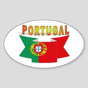 Portuguese ribbon Sticker (Oval)