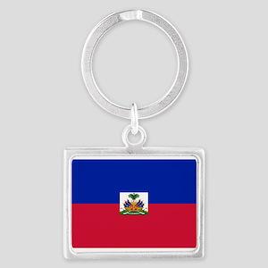 Haitian flag Landscape Keychain