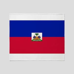 Haitian flag Throw Blanket