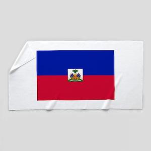 Haitian flag Beach Towel
