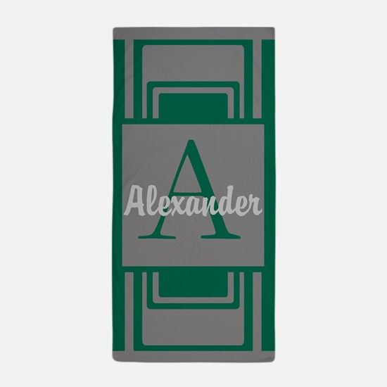 Personalized Monogrammed Beach Towel