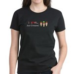 I Love Ice Cream Women's Dark T-Shirt