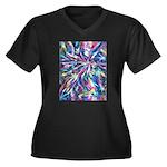 StarPlay Women's Plus Size V-Neck Dark T-Shirt