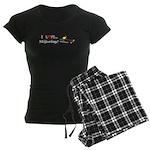 I Love Skijoring Women's Dark Pajamas