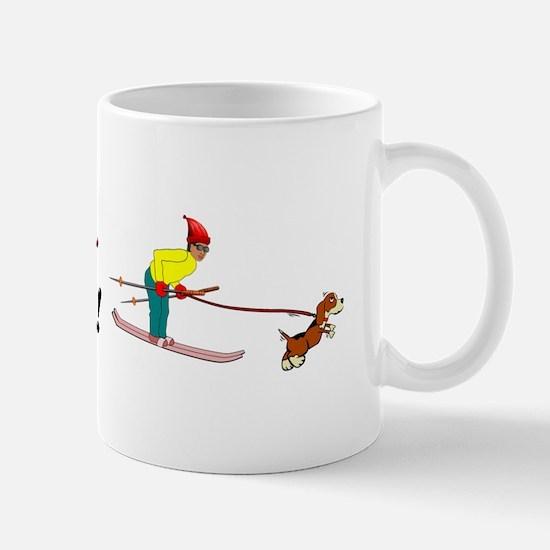 I Love Skijoring Mug