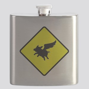 Caution: Flying Pigs Flask