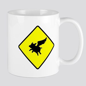 Caution: Flying Pigs Mugs