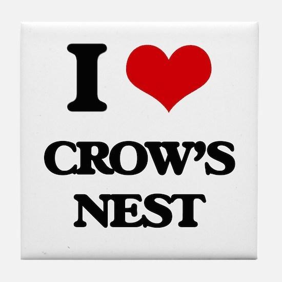 I Love Crow'S Nest Tile Coaster