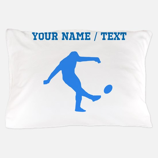 Custom Blue Rugby Kick Pillow Case
