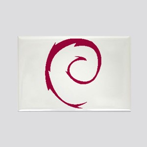 Debian Renew Rectangle Magnet