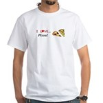 I Love Pizza White T-Shirt