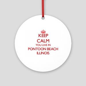 Keep calm you live in Pontoon Bea Ornament (Round)