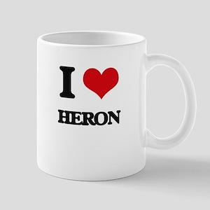 I Love Heron Mugs