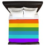 Rainbow Stripes King Duvet