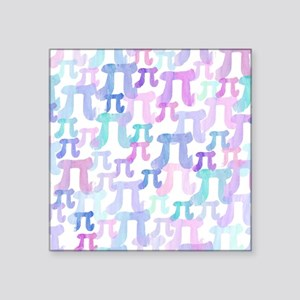 """Watercolor Pi Square Sticker 3"""" x 3"""""""