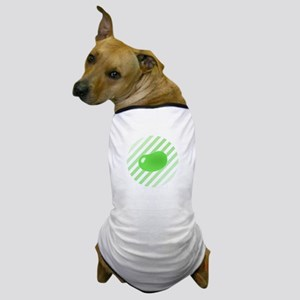 green jellybean stripes Dog T-Shirt