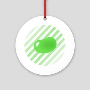 green jellybean stripes Ornament (Round)